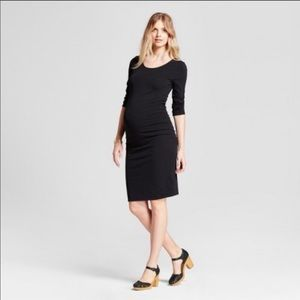NWOT Isabel Maternity Black 3/4 Sleeve Dress XS